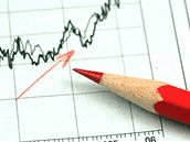 forex chart with a pencil