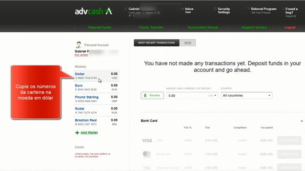 Como retirar dinheiro via ADVCash