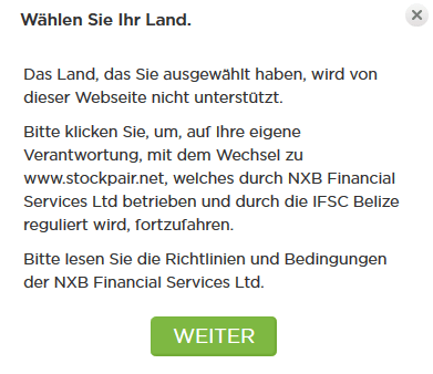 stockpair falsch staat login