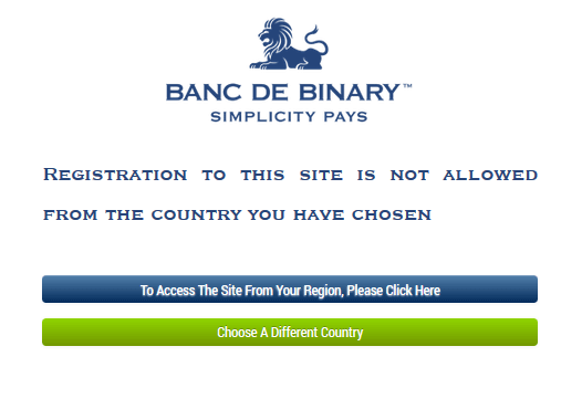 banc de binary EU clients not supported popup