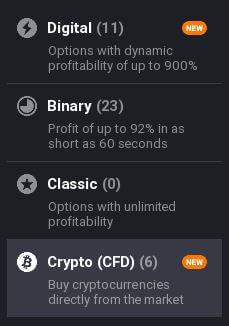 iq option types of options