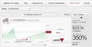 One Touch-optioner med BDSwiss
