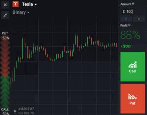 IQ Option Tesla