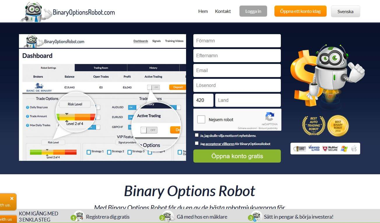 Binary options svenska