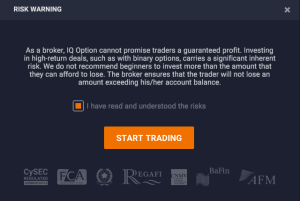 iqoption Riskvarning